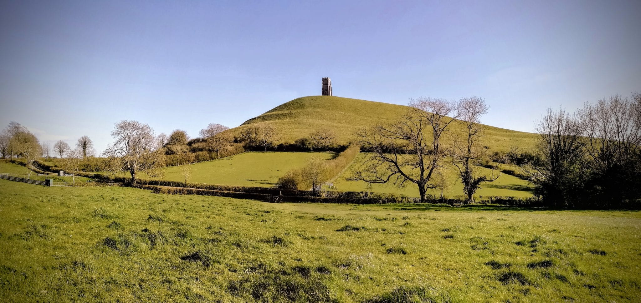Glastonbury Tor in Spring
