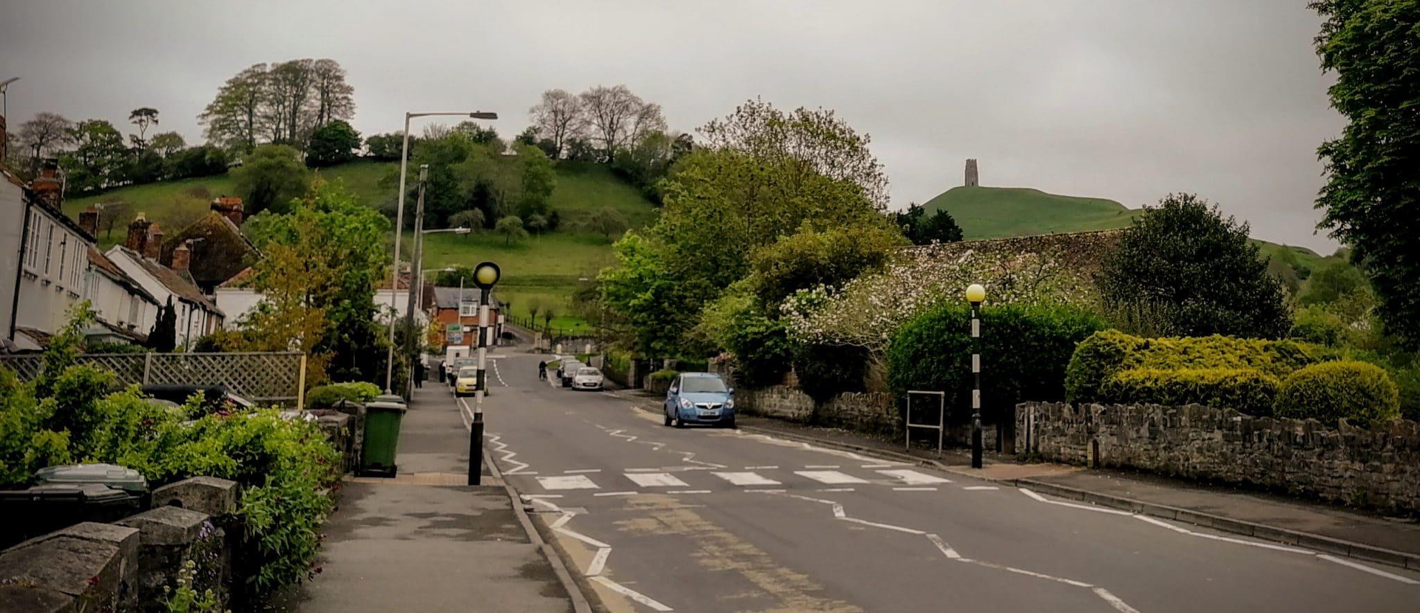 Glastonbury Tor from Bere Lane