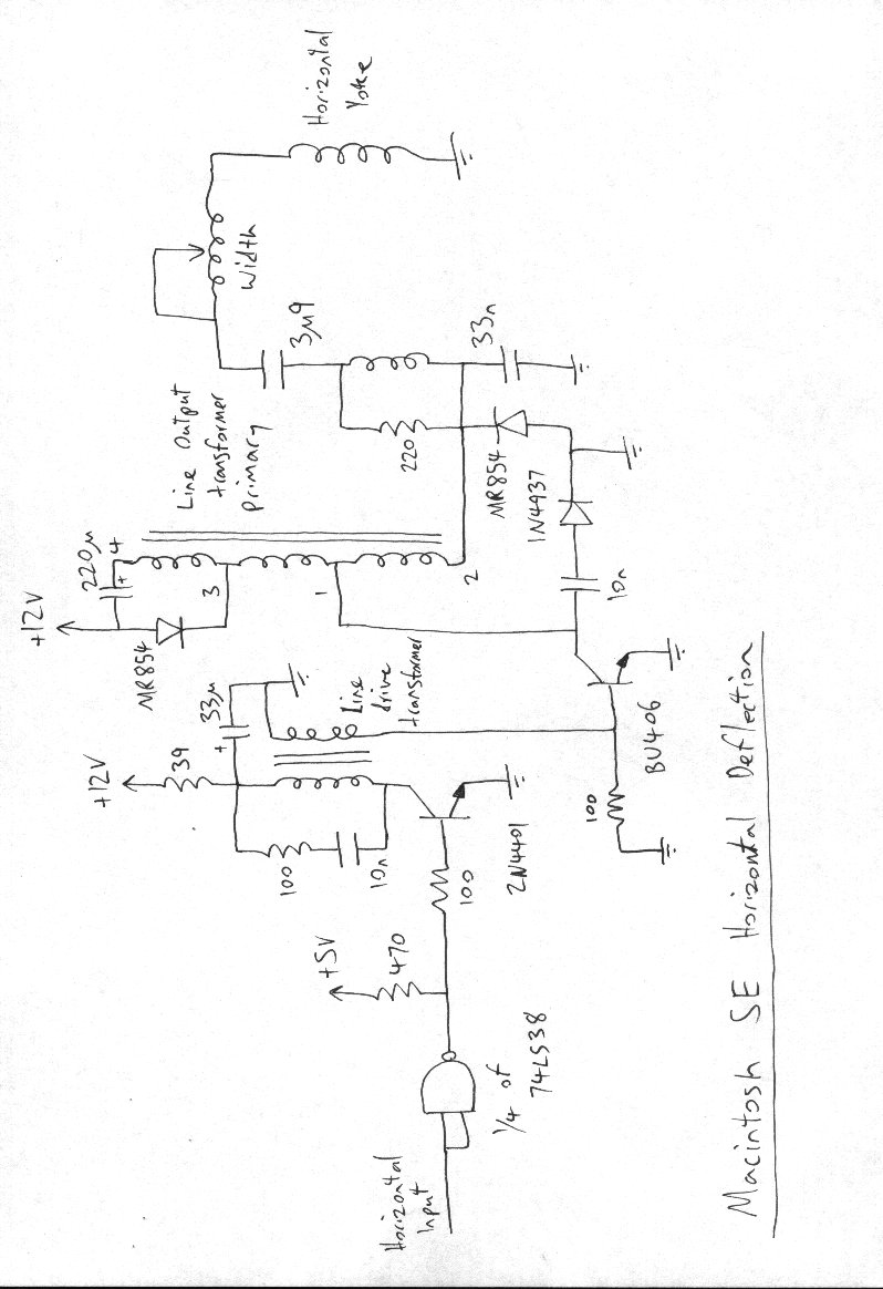 [WRG-3209] Circuit Diagram Horizontal Deflection