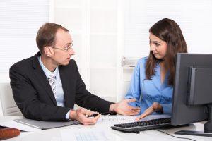 Business team - problems under men and woman - misunderstandings