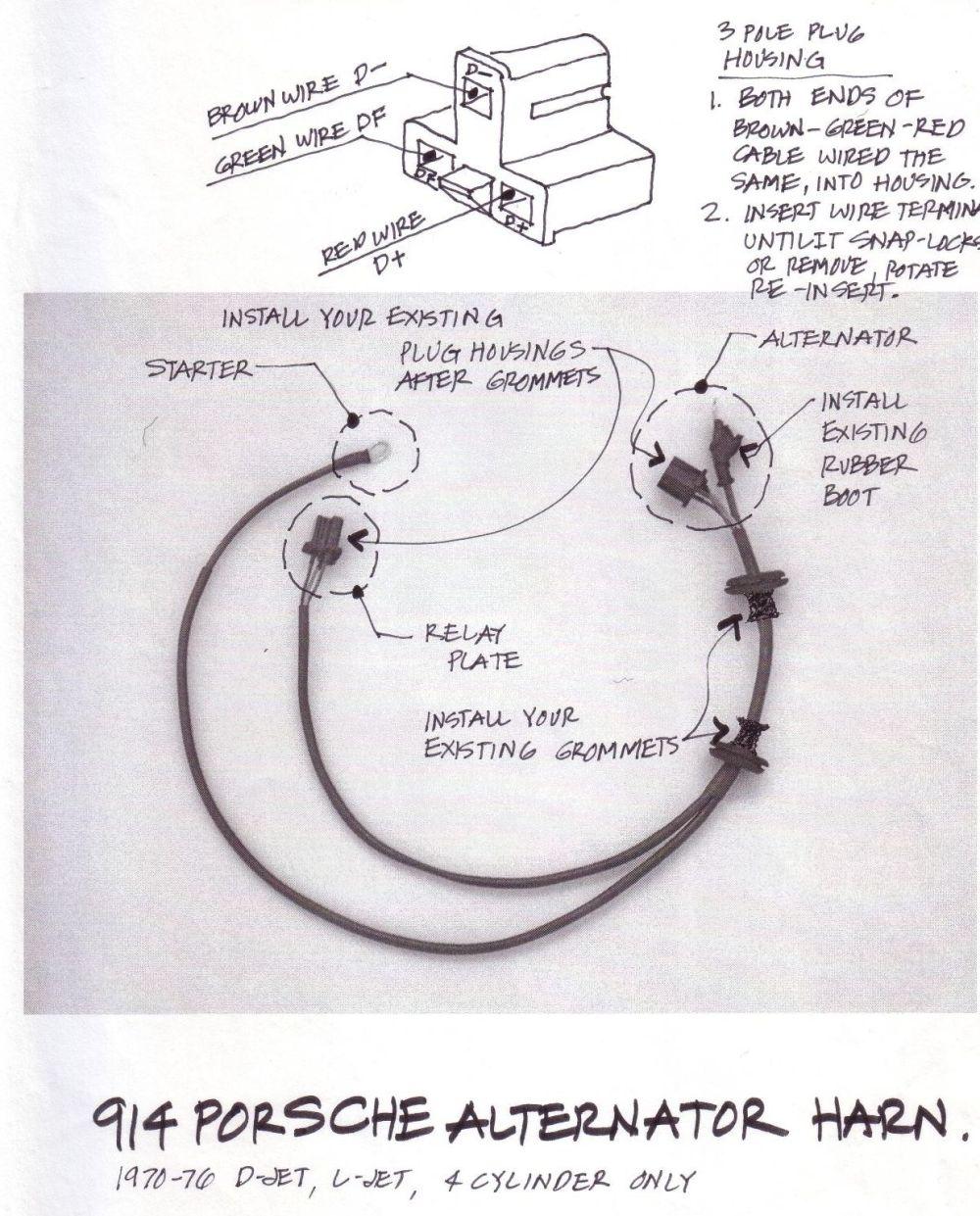 medium resolution of porsche 914 alternator wiring wiring diagram paperschematics diagrams and shop drawings page 3 shoptalkforums com