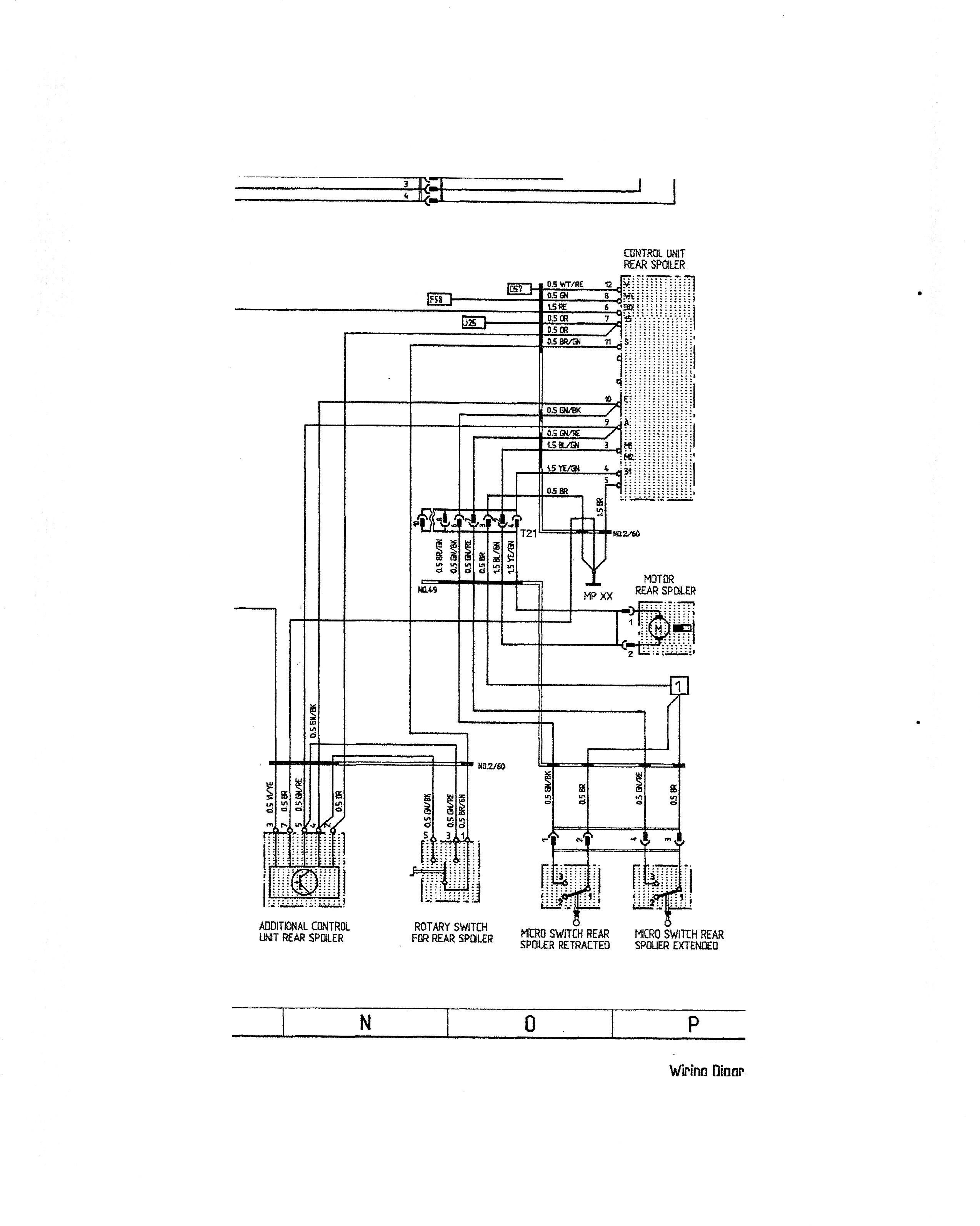 Spoiler Control Wiring Help