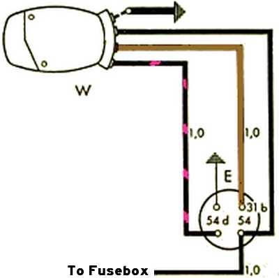 wiring diagram thesamba beetle - oval-window - 1953-57 - view topic -  swf 1974 porsche 911