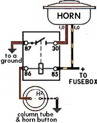 model a horn wiring diagram house electrical symbols uk thesamba com beetle 1958 1967 view topic image may have been reduced in size click to fullscreen