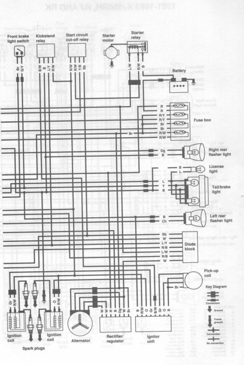small resolution of 1982 xj550 wiring diagram wiring diagrams scematic street tracker yamaha virago xv920 82 xv920 wiring diagram