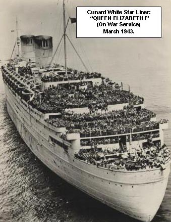 Cunard White Star Liner Queen Elizabeth (1)<br /><br /><br /><br /> on War Service March 1943