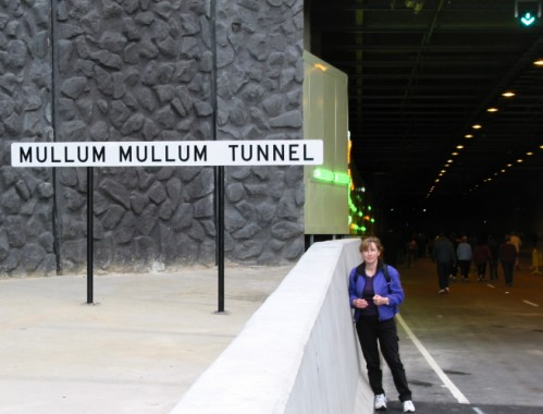 walk through the Eastlink tunnels