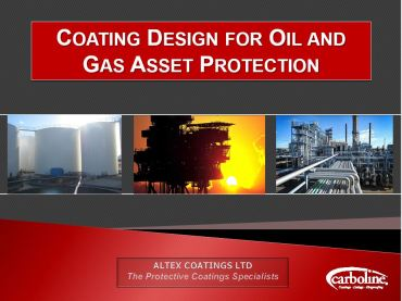 Coating Design for Oil and Gas Asset Protection | Altex Coatings