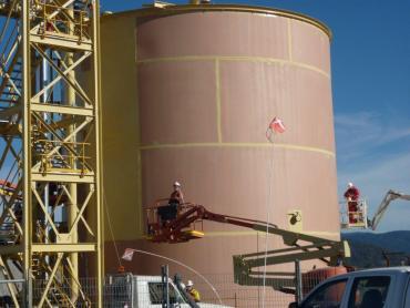 Water tank remediation