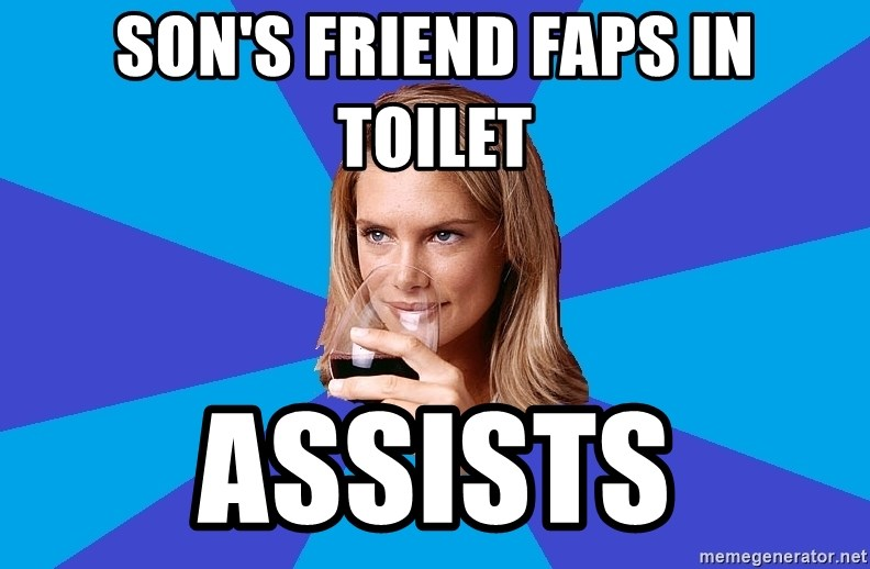 Middle Class Milf Sons Friend Faps In Toilet Assists