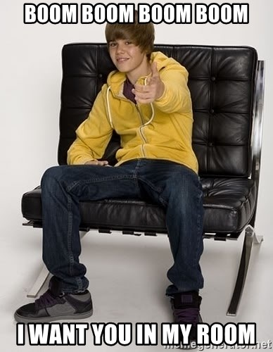 Boom Boom Boom Boom I Want You In My Room : Justin, Bieber, Pointing, Generator