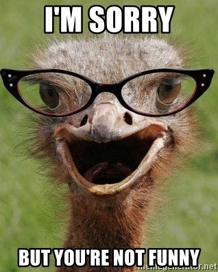 You Re Not Funny Meme : funny, Sorry, You're, Funny, Judgemental, Bookseller, Ostrich, Generator
