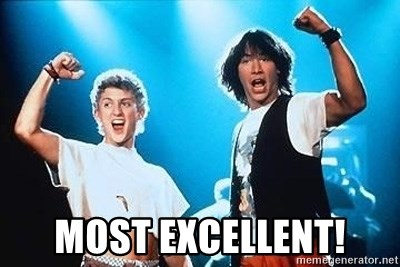 MOST EXCELLENT  Bill and Ted Excellent  Meme Generator