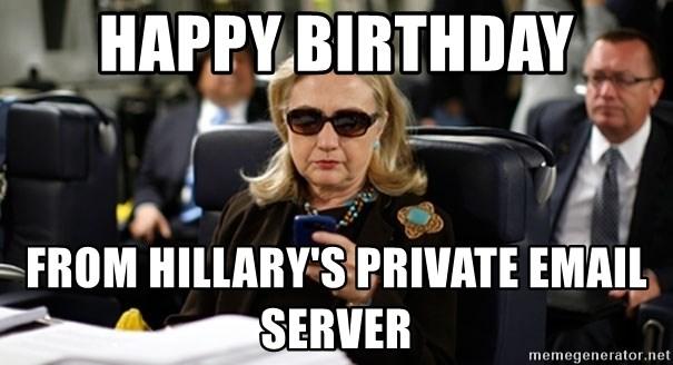 happy birthday from hillary