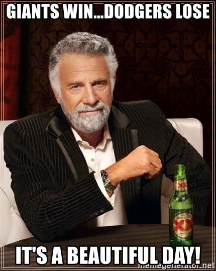 Dodgers Lose Meme : dodgers, GIANTS, WIN...DODGERS, BEAUTIFUL, Interesting, World, Generator