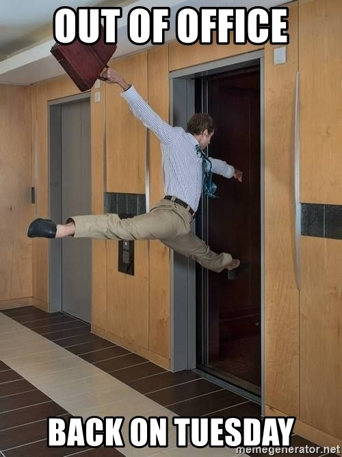 Out Of Office Meme : office, Office, Tuesday, Leaving, Friday, Generator