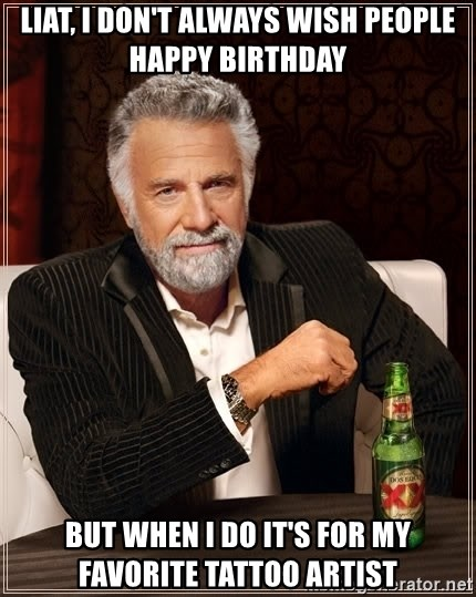 Happy Birthday Artist Meme : happy, birthday, artist, Happy, Birthday, Tattoo, Artist, Design