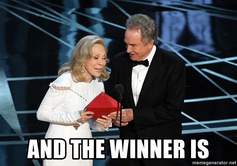 AND THE WINNER IS - Oscar Mixup | Meme Generator