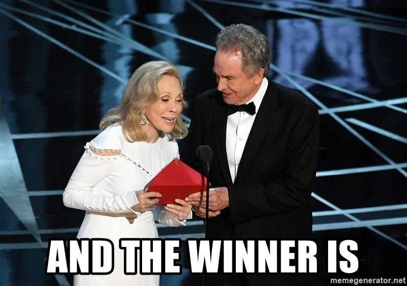 AND THE WINNER IS - Oscar Mixup   Meme Generator