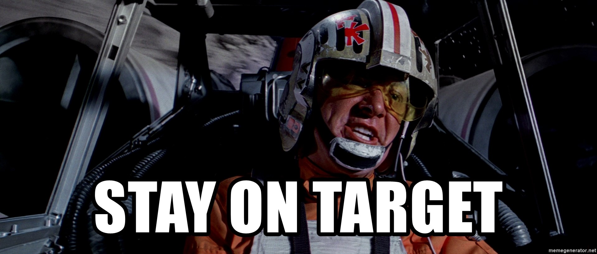 stay on target red