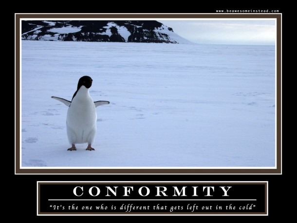 conformity the demotivational poster