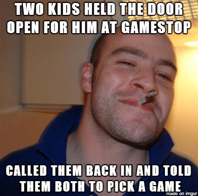 Saw A Guy Do This While In Gamestop Today Both Of The Kids