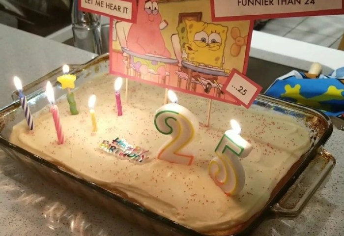 Turned And Got A Classic Spongebob Cake Meme Guy
