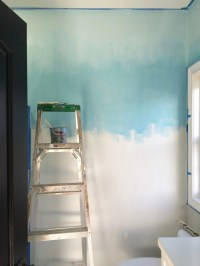 Operation Ombre: Turquoise dip dyed painted wall treatment ...