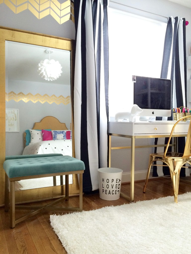 colorful accent chair beach lounge chairs target black, white and chic all over: teen bedroom makeover