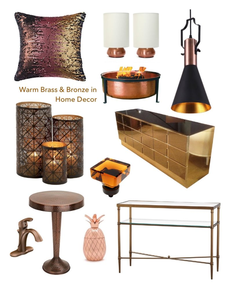 Home decor collage from january 2017 featuring currey company warm broze home decor decorating copper