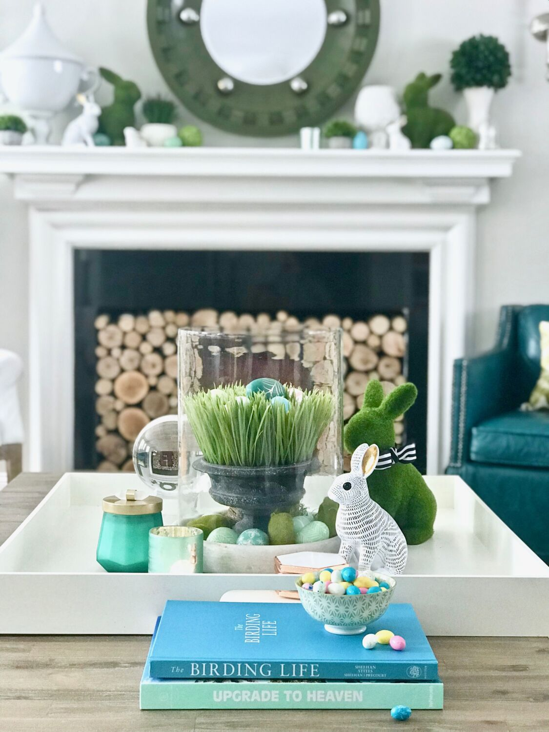 big living room mirrors mediterranean furniture easy easter decorating with bright cheerful spring colors