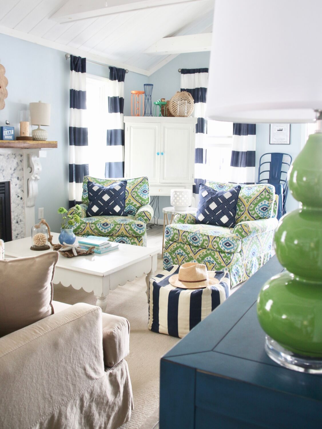 Making a Splash Down at the Lake with New Nautical Decor