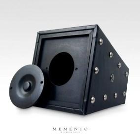 rock-urn-obelisk-leather-black-bott-open