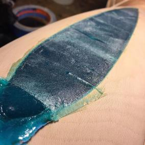 Resin, Dyes, Powdered Turquoise, Glow Pigments