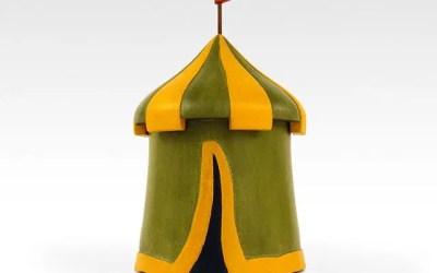Medieval Tent Feline Cremation Urn – complete