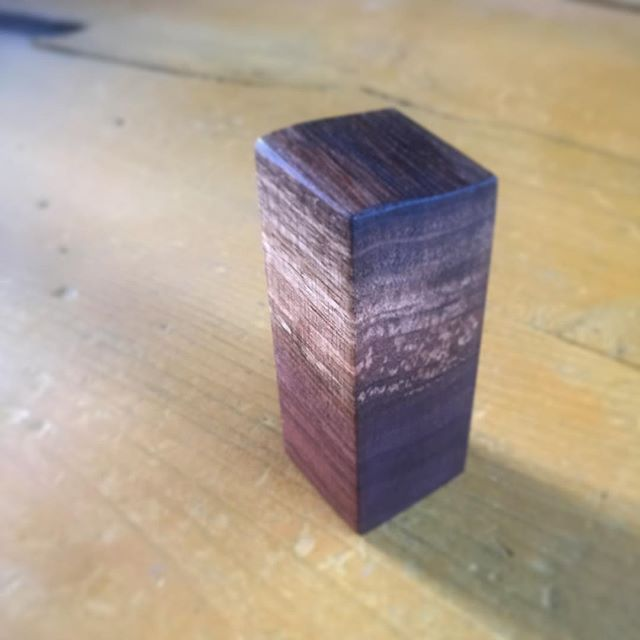 Meta Mini Live Edge Walnut Cremation Urn – avail soon in singles and grain matched groups