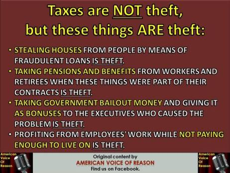 taxes are not theft