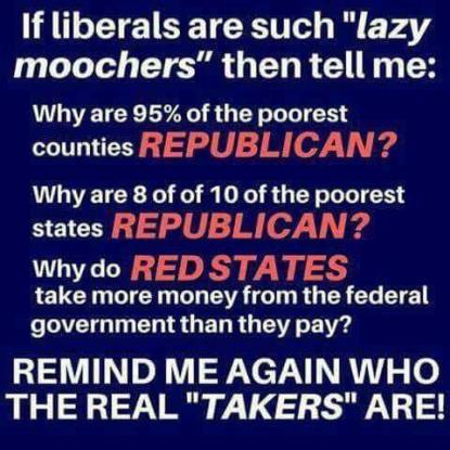Occupy Democrats meme poorest counties republican