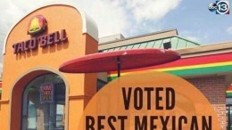 Taco Bell voted best Mexican restaurant