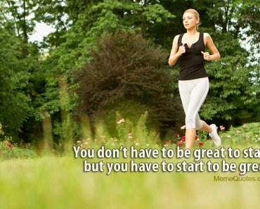 Sporty woman running