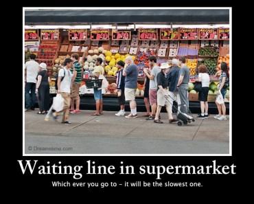 Line for supermarket