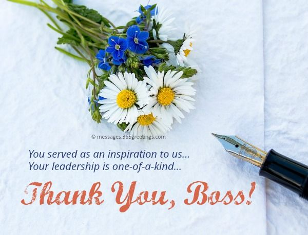 Thank You Notes To Boss Appreciation Letter And Messages To Boss