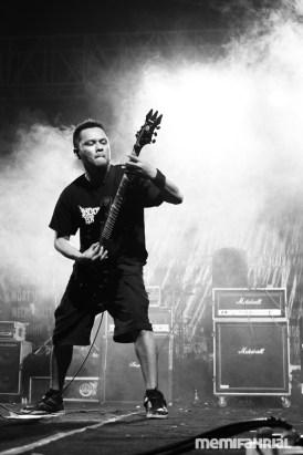 Ferly, guitarist of Brutal Death Metal band, Jasad.