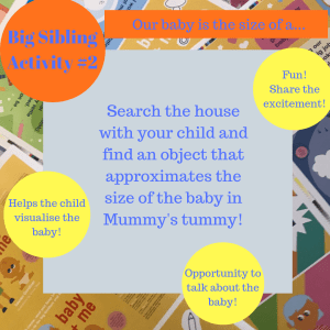 Activities to prepare big brothers and sisters - our baby is the size of a...