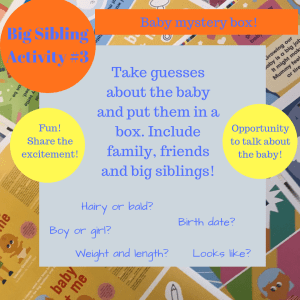 Activities to prepare big brothers and sisters - baby mystery box!