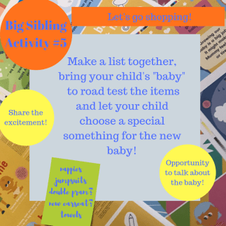 activities for big brothers and sisters - Let's go shopping!