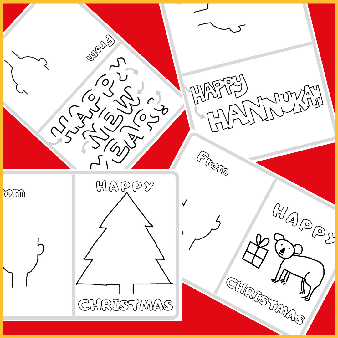 Image of festive card templates