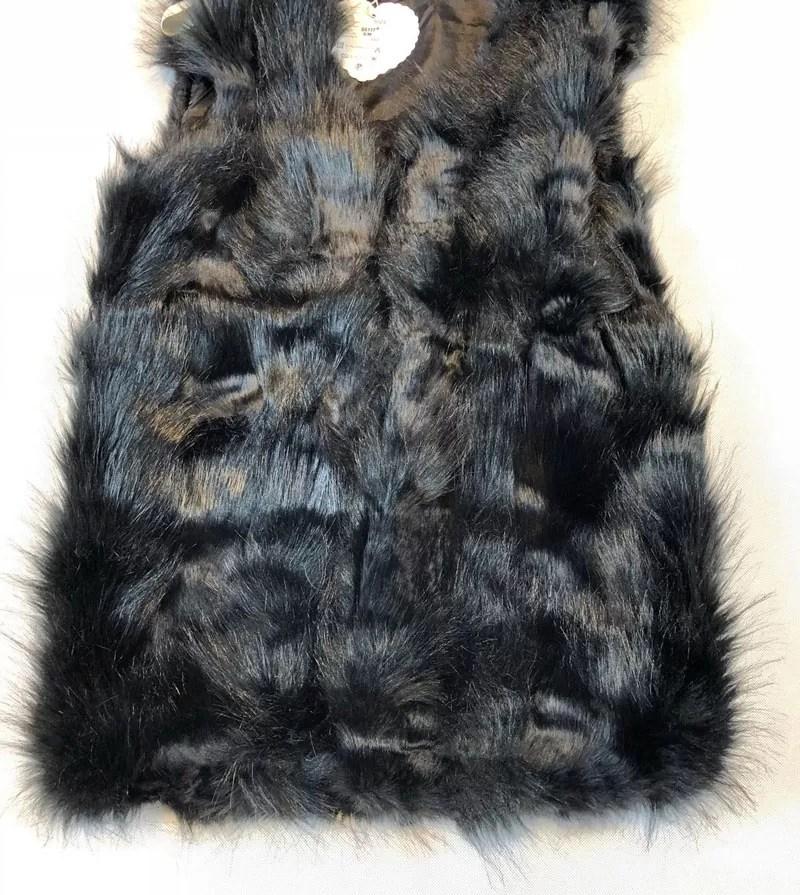 Korte Fur Bodywarmer zwart - Bodywarmer Dames