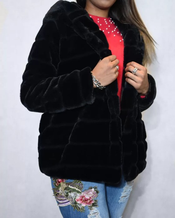 zwarte bontjas dames - dames jassen