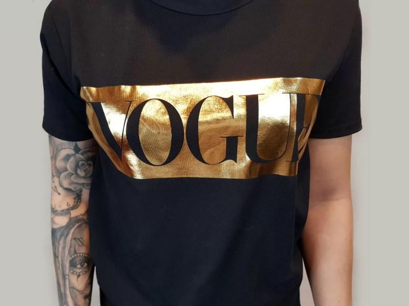 zwart dames tshirt met vogue